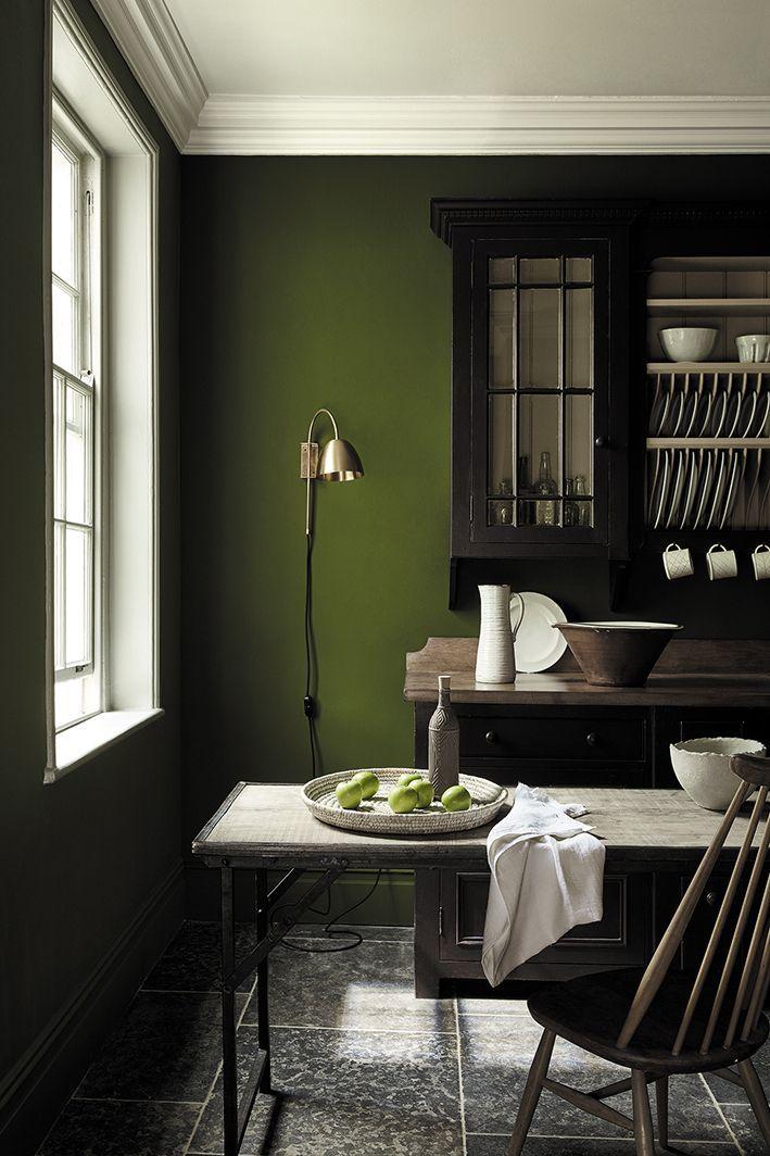 Deep Dark Sage Green Paint Colour By Little Greene Chocolate