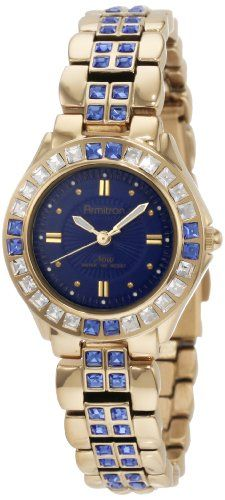 Armitron Women's 75/3689BLGP Sapphire Colored Swarovski Crystal Accented Gold-Tone Watch Armitron, WOMEN'S WATCHES  if you wish to buy just CLICK on AMAZON right HERE http://www.amazon.com/dp/B005I0LAII/ref=cm_sw_r_pi_dp_VsMQsb0G4WFED8NA