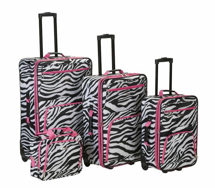 Rockland 4 Piece Luggage Set F105-PINKGIRAFF | Luggage Pros