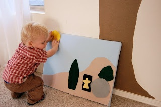 Flannel-board fun!  A simple way for toddlers and preschoolers to re-enact the Easter story!