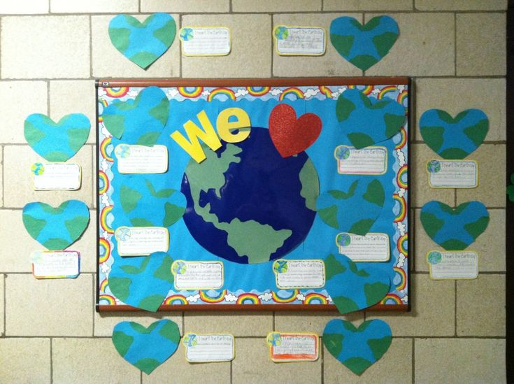 Earth Day bulletin board