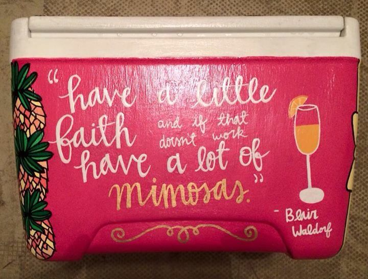 Blair Waldorf mimosas gossip girl quote brunch sorority Greek cooler