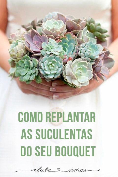Dica Maravilhosa - É super fácil!!  Como replantar as suculentas do bouquet #bouquet #suculentas #casamento