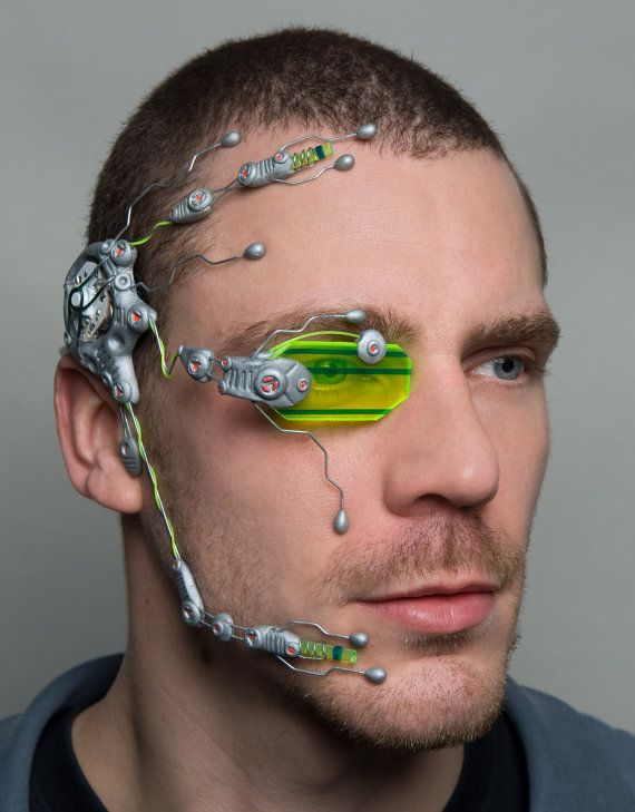 G2 flourotec cybernetic head system by DominicElvinDesign on Etsy