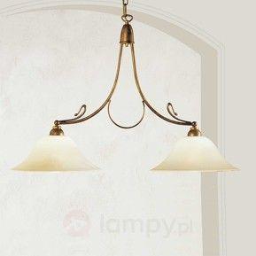 Mosiężna lampa wisząca Antonio