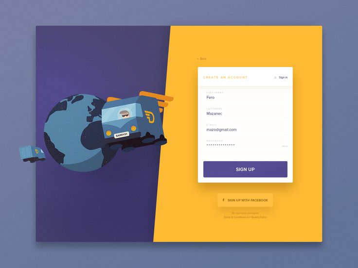 Dashboard sign up 2