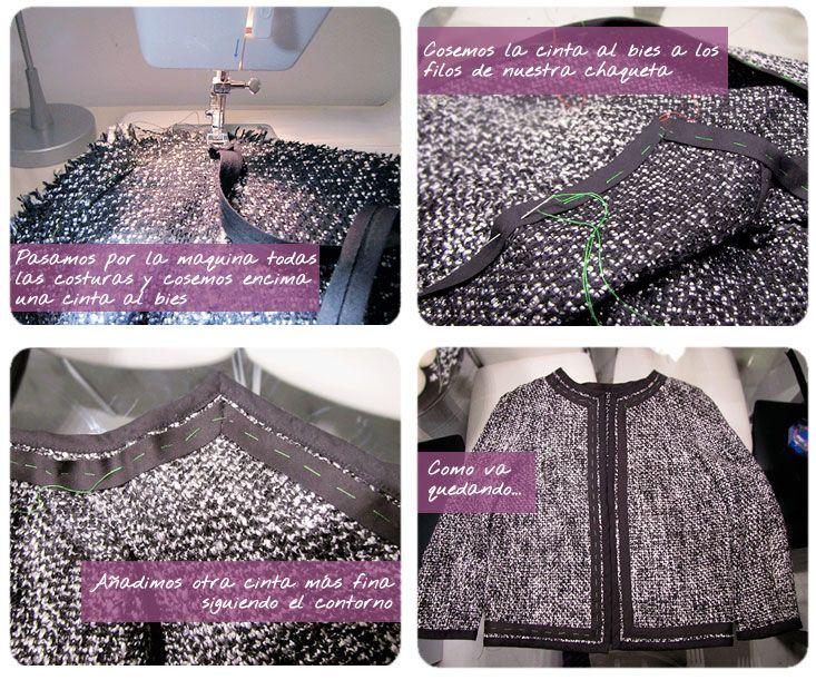 chaqueta chanel DIY 4 Chaqueta de Tweed tipo Chanel. #DIY