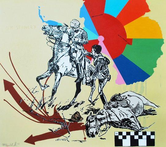 Ryan Metke, Congo - Yellow, 2014 at www.meadcarney.com  #RyanMetke #MeadCarney #London #art #artgallery #Congo