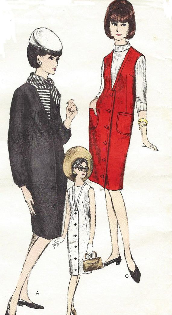 Vintage 60s Vogue Sewing Pattern 6311 Womens Dress by CloesCloset