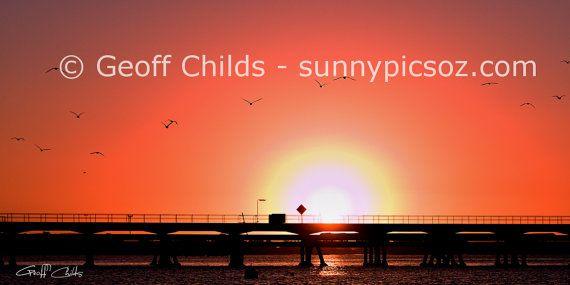 Pink sunset screensaver inspirational by GeoffsSunsetPics on Etsy, $4.90