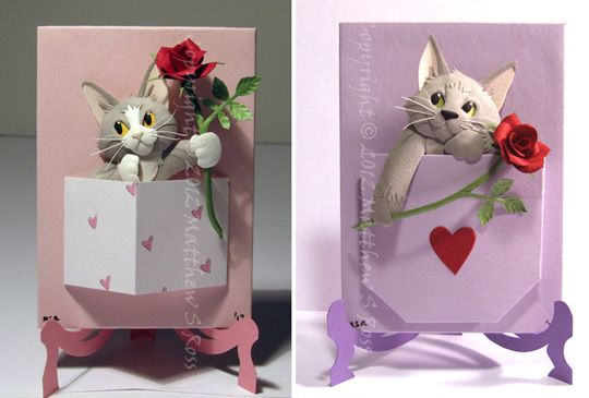 Valentine's card... with cats! <3