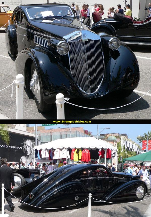 "1925 ROLLS ROYCE PHANTOM ""JUNCKHEERE AERODYNAMIC COUPE"""