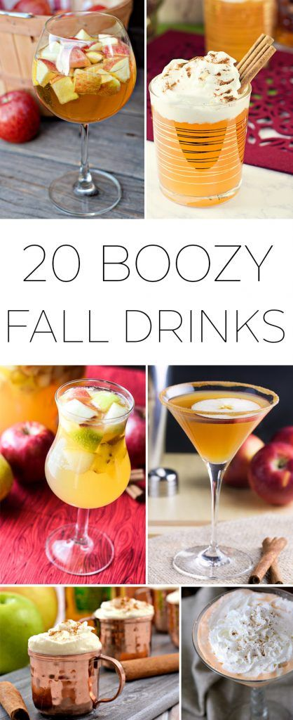 20 Boozy Fall Drinks and Cocktails that are sure to make you enjoy the cooler months! #falldrinks #fallcocktails