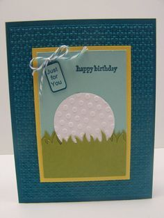 Stampin Up Birthday Cards for Women | Stampin Up Handmade Greeting Card: Happy Birthday Card, Golf, Golfing ...