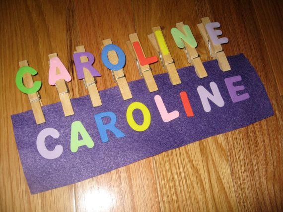 Name Game Busy Bag Clothespins Felt and by KeepingMyKiddoBusy