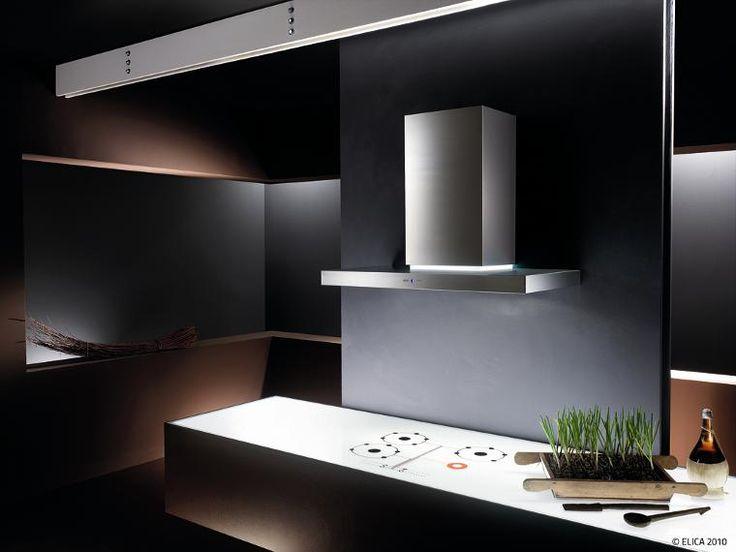 Campana #Elica Faro ancho 90, Acero Inoxidable, Control Tactil con display 3V + Intensivo, iluminación Halo 2 x 20Wats + Led 1 x 15 Wats, 290-570-720 m³