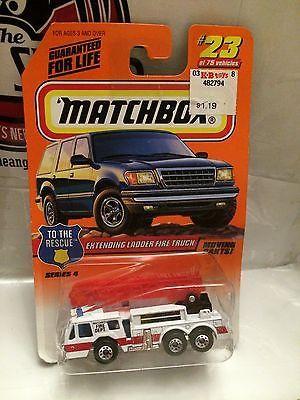 (TAS004906) - Matchbox Toy Car - Extending Ladder Fire Truck