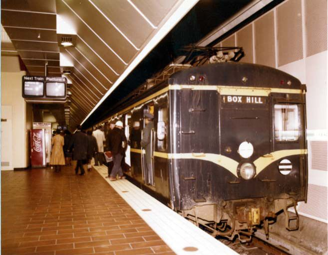 Museum station shortly after opening in 1981