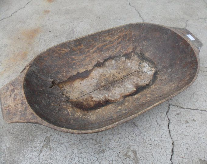Antique primitive wooden dough bowl / Hand Carved / Rustic Decor / Vintage / Primitive / Dough Bowl / Handmade / Old / Home Decor 70
