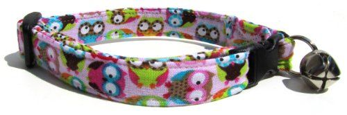 Breakaway Cat Collar in Pink Owls Handmade in the USA *** Be sure to check out this awesome product.