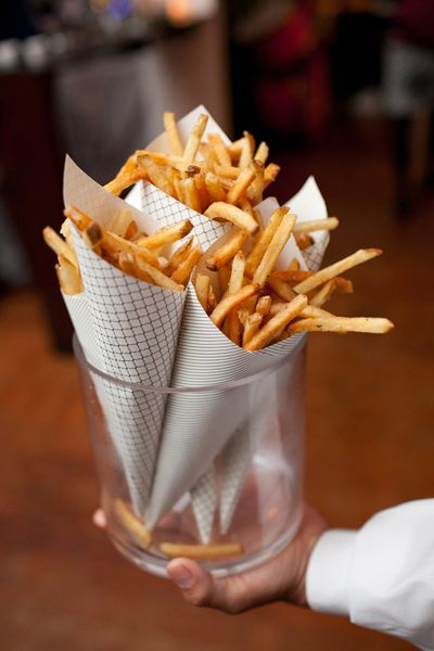 Rebecca Reategui Weddings and Special Events // paper cones // french fries // Snippet & Ink // Josh Greutzmacher Photography