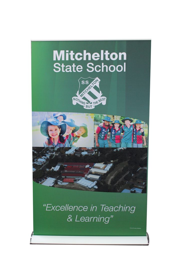 Mitchelton State School's fantastic pull-up banner by Star Outdoor. To order one for your school, visit www.StarOutdoor.com.au