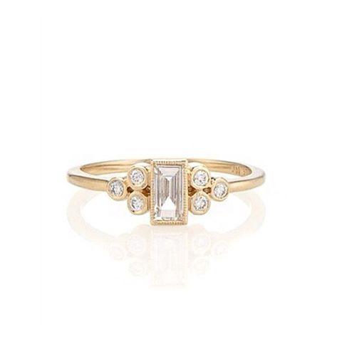 Art deco chic engagement ring  #nwweddingrings