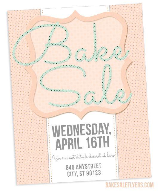 Spring /Easter bake sale flyer template