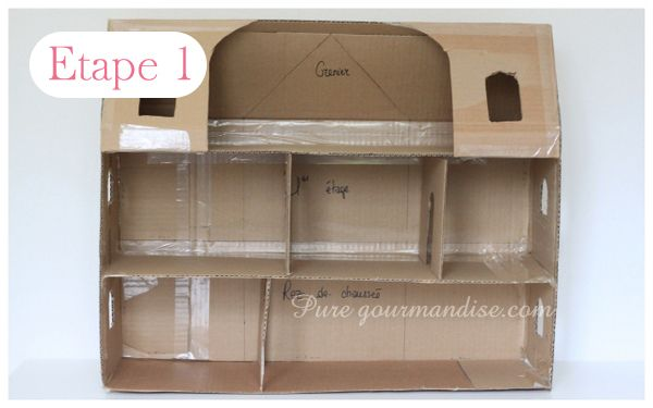17 best images about casas de mu ecas dye dye house dolls for Maquette de maison