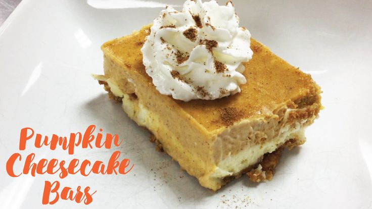 When you're putting together your Thanksgiving menu, change up some traditional sides and desserts. Check out these pumpkin cheesecake bars for starters!