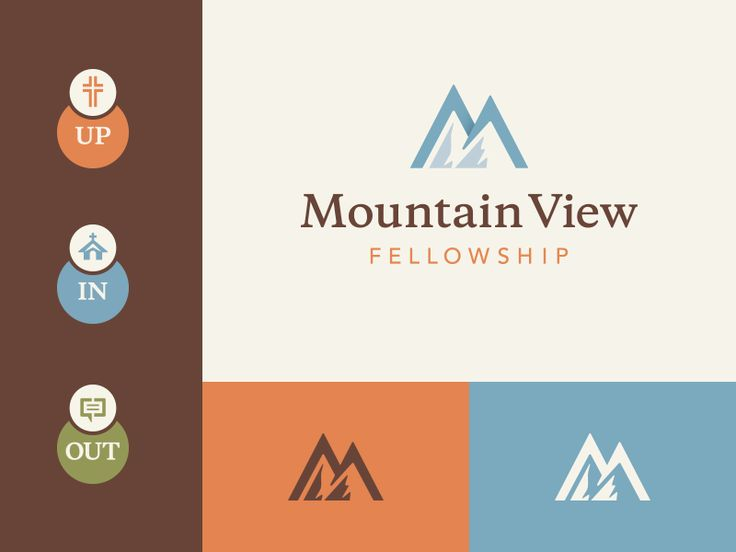 New logo for Mountain View Fellowship located in Bennett, Colorado.  Mountains and hills are mentioned over 500 times in the Bible. Mountains have a logical religious symbolism for biblical culture...