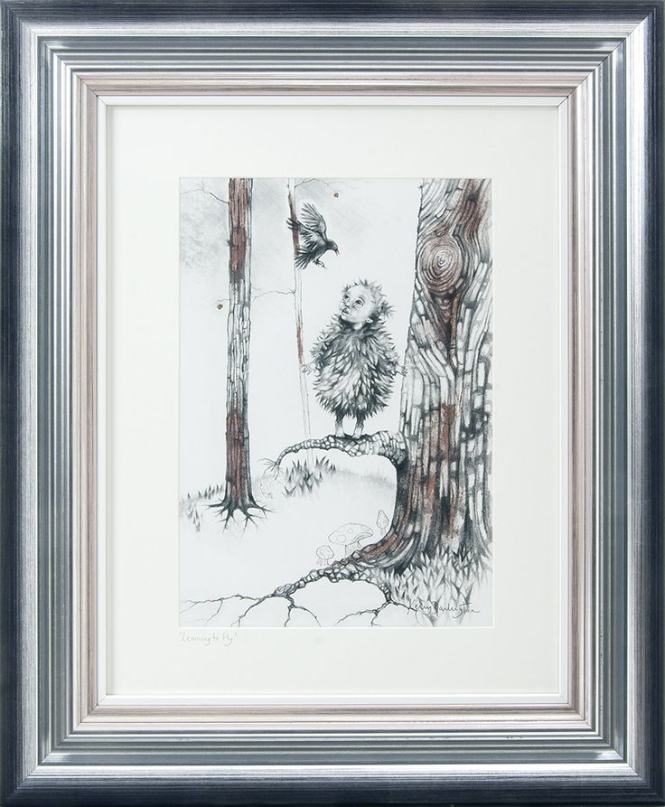 'Learning to fly' is a beautiful limited edition with foil enhancing. In the gallery to see and buy now.