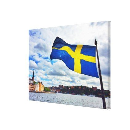Sweden flag canvas print - diy cyo personalize design idea new special custom