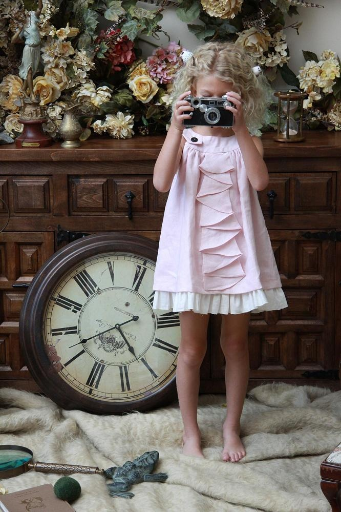 Kira Blush Mini Dress Cool Baby Clothes Cute Girls