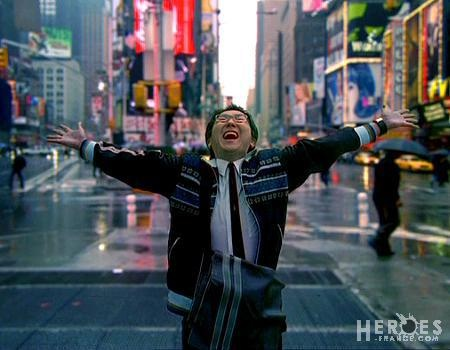 """I love New York!"" I do this in New York too! Just not in Times Square. But definitely in the Upper West Side...LOL!"