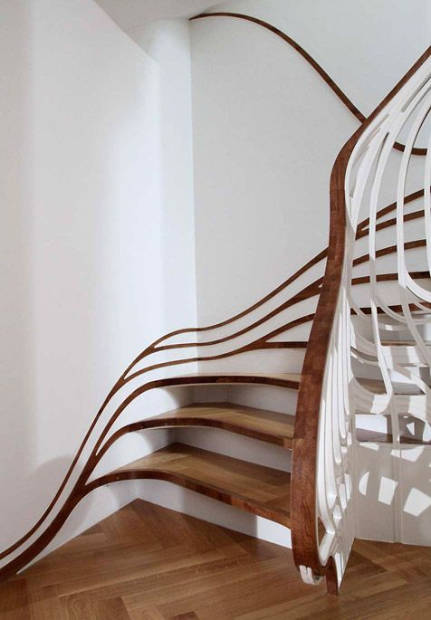 Atmos Digitally sensuous architecture in two of Alex Haw's residential staircase projectsIdeas, Art Nouveau, Staircases, Interiors Design, House, Architecture, Stairs Design, Stairways, Alex O'Loughlin