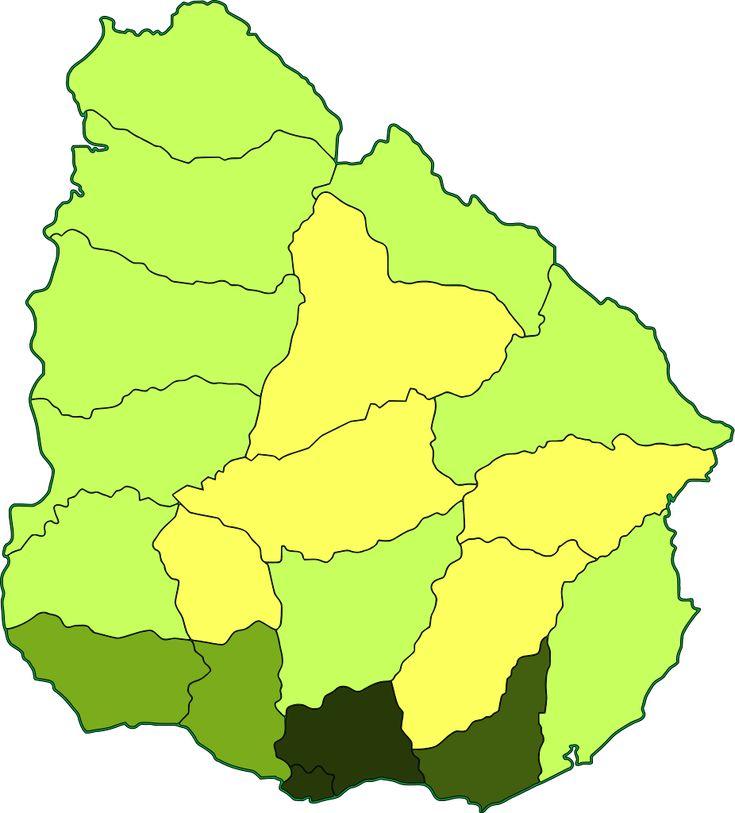 Population density of Uruguay 2013
