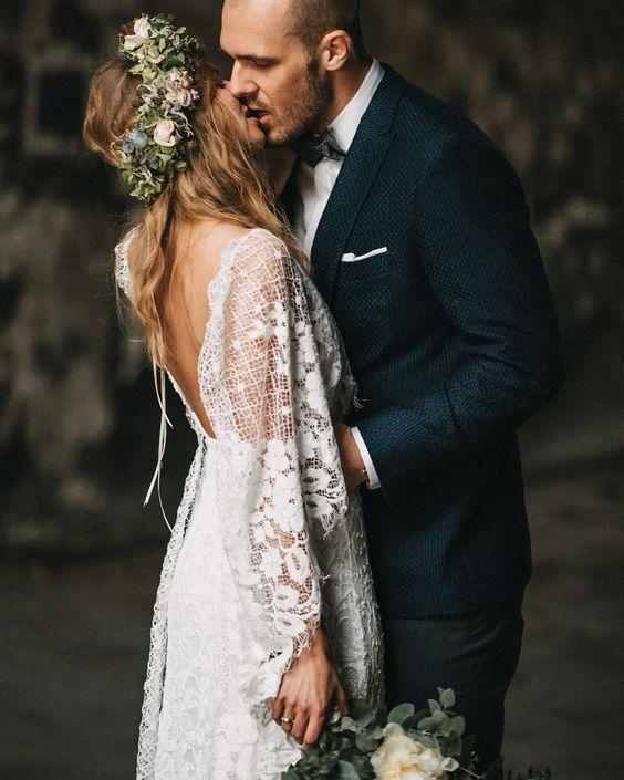 40 Deep V Open Back Wedding Dresses Ideas 7 17