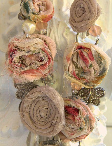 Vintage Fabric Garden Necklace - Laura Kirste More