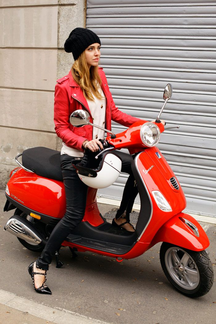 Leather + Vespa