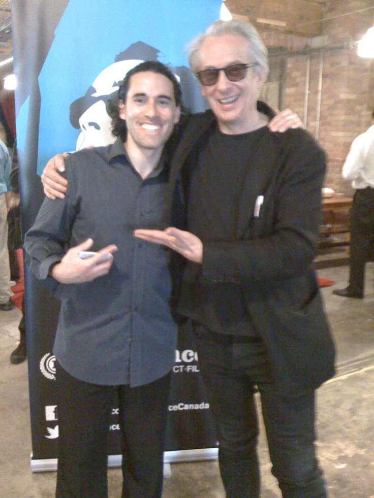 With @raindancecanada headman Elliot Grove at Raindance Canada's Open House | Centre for Social Innovation, Toronto, March 21, 2012.