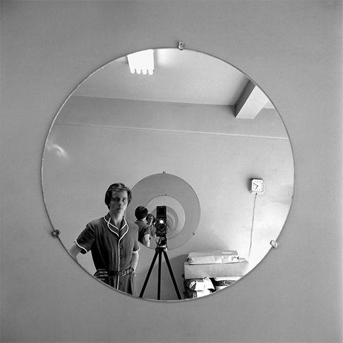 Vivian Maier, Untitled (Self-portrait in Round Mirrors)Photographers, Photos, Maier Self Portraits, John Maloof, Finding Vivian, Vivian Maier, Black White, Photography, Mirrors Mirrors