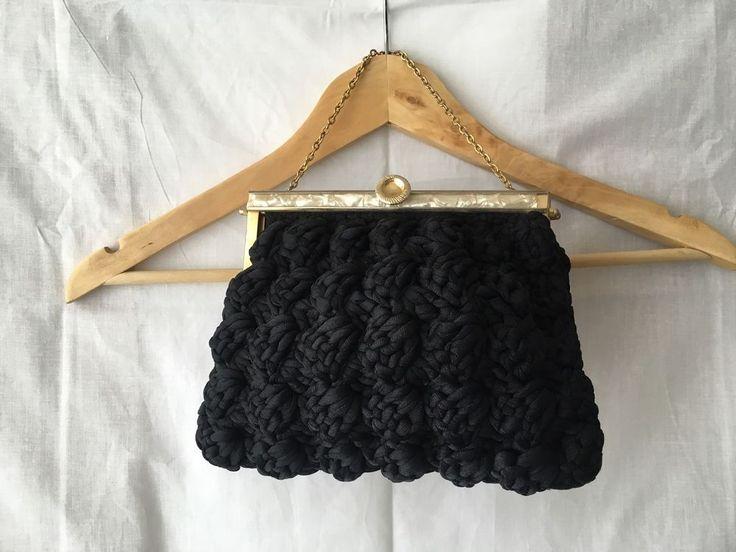 Vintage 50s / 60s Black Handbag Retro  | eBay