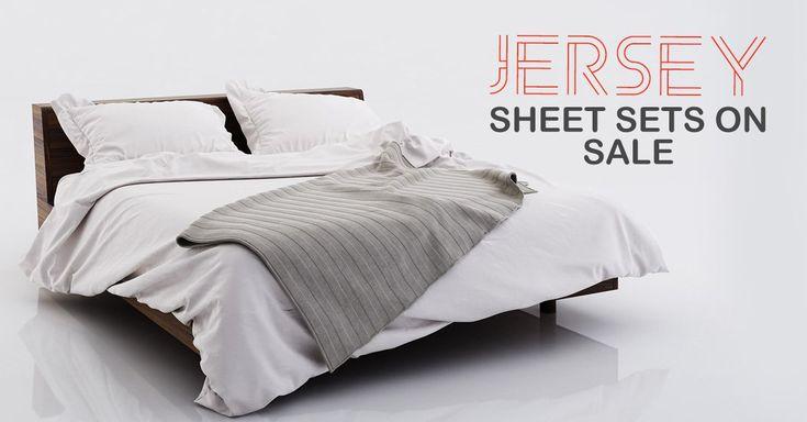 Jersey sheet sets on sale at lelaan. #jerseysheet #jersey #sheetsets #bedding #winter #sale