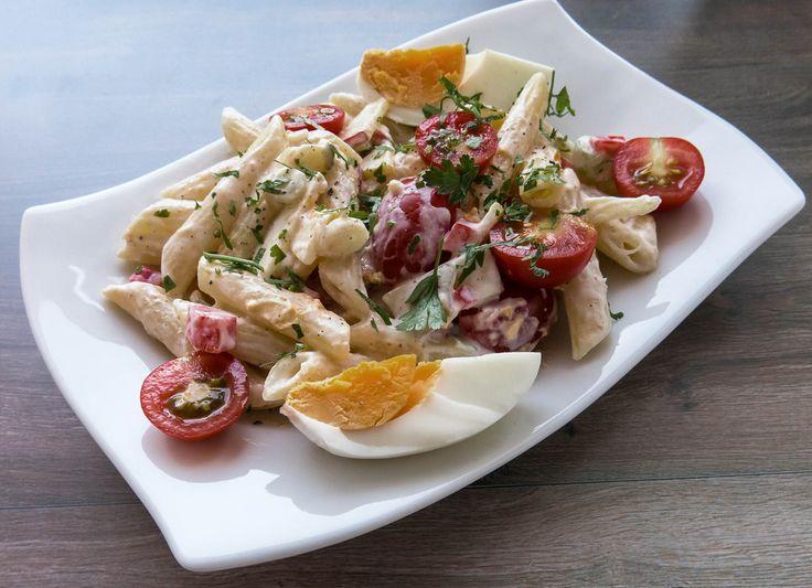 Nudelsalat mit Joghurt und Frischkäse https://www.picturedashboard.com