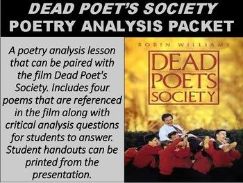 an analysis of the irony in the movie dead poets society Irony in the dead poets societ essaysthe myth to be discussed in this paper is irony ironies present the reader with images and patterns, which are all too familiar because they reflect on all, or our realistic lives.