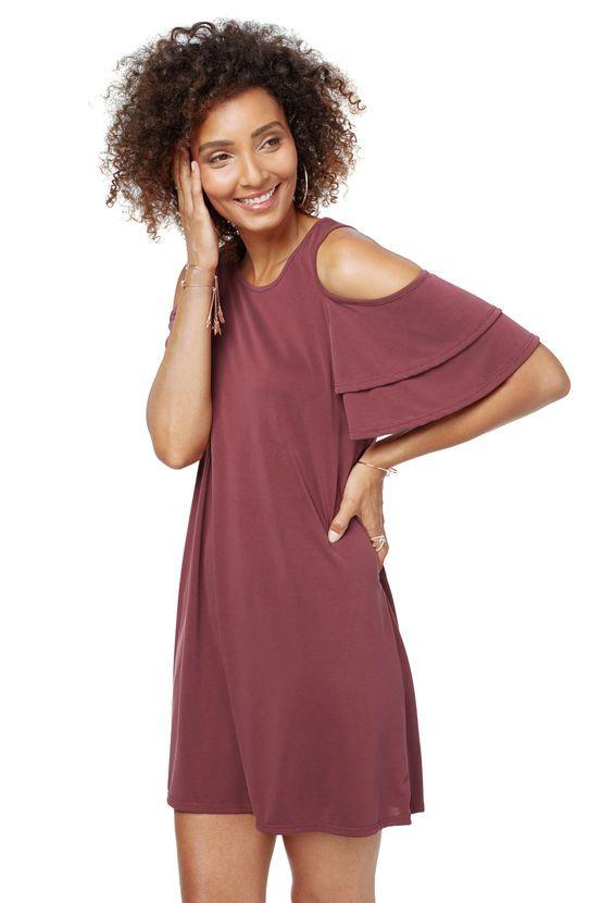 6643bc69f377e Kylie Cold Shoulder Dress