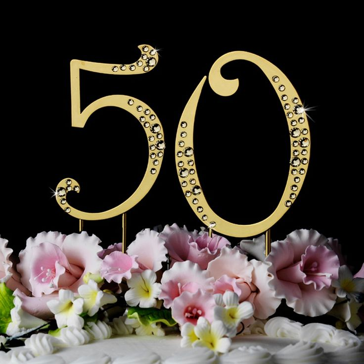 The 72 best parents 50th wedding anniversary ideas images on 50th anniversary or birthday crystal accented cake top sparkle junglespirit Choice Image