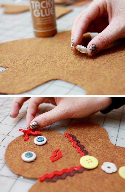 Kids Christmas Craft: Gingerbread Man Pillow from Paper & Cake