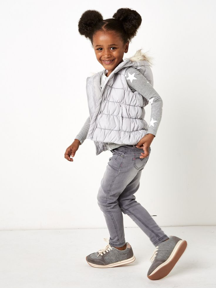 Girls grey jeans 2-8years